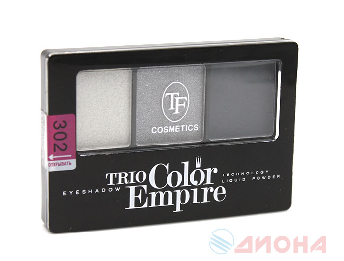 "Triumf Тени для век ""Trio Color Empire"" тон 302 Графит"